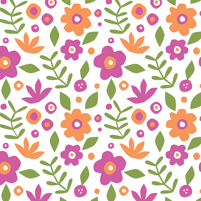 Floral Collage Pattern
