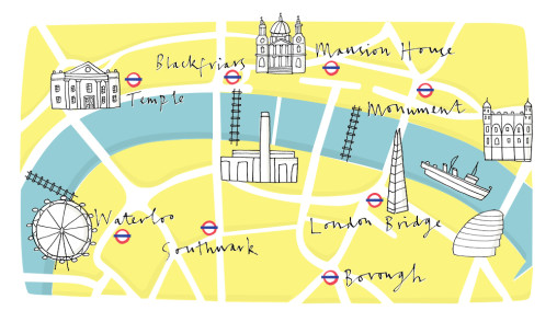 South Bank Map