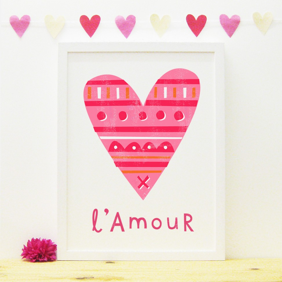 Pink Heart Amour